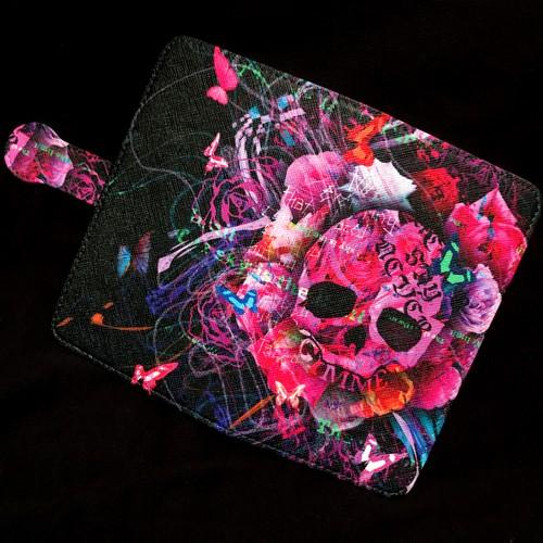 【予約商品】GiMME(ギミー) / スマホ用 / Flower Skull ( 手帳 type )