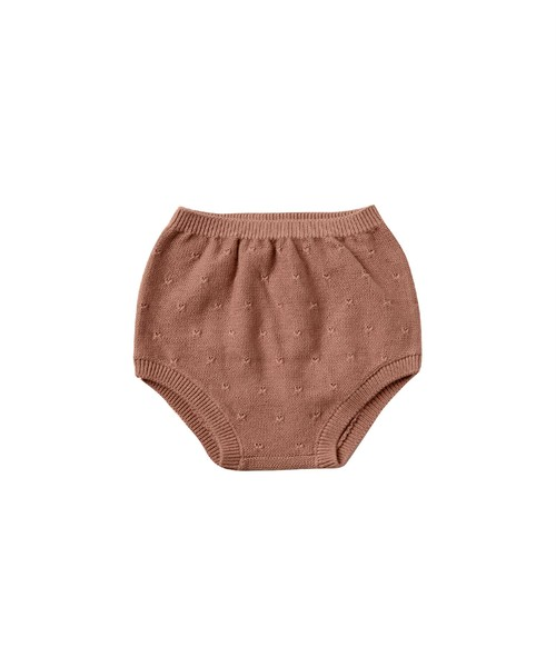 Quincy Mae(クインシーメイ)/ knit bloomer /  Clay / 12-18m