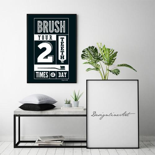 Brush B2ポスター(フレーム入り)