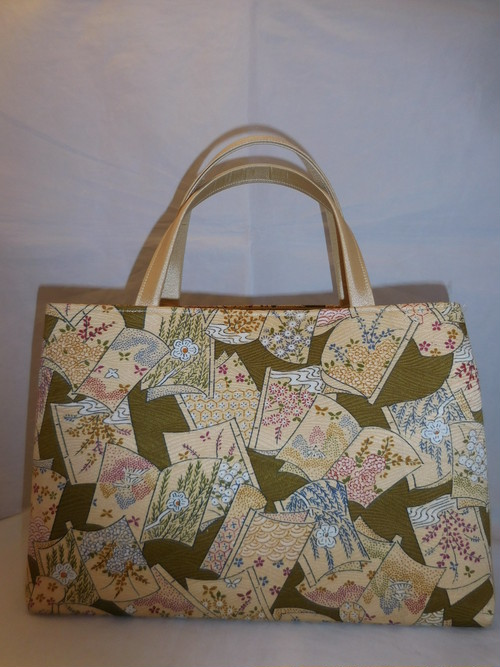 着物地和装バック Antiques fabric bag(made in Japan)(No8)