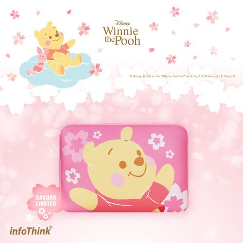 InfoThink ノートパソコンケース ディズニー くまのプーさん Winnie the Pooh タブレット収納 iNB(Sakura)