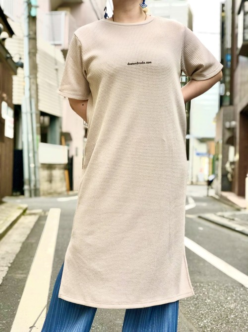 【remade:DUST AND ROCKS】Waffle T-shirt Onepieace