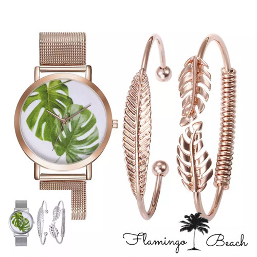 【FlamingoBeach】leaf Watch set