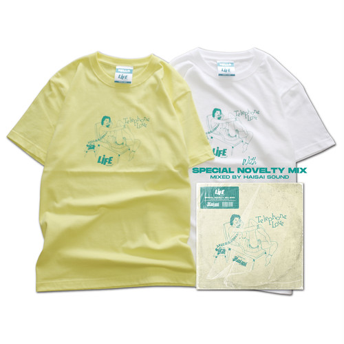 TELEPHONE LOVE LOGO Tee with MIXCD SET / LIFEdsgn