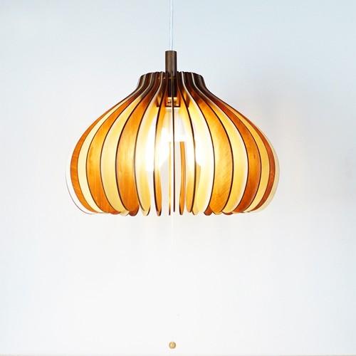 「オニオン」木製 3灯ペンダントライト