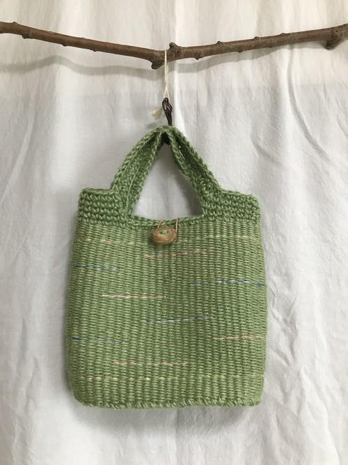 <安価版>輪織りで楽しむ、編み持ち手の手提げバッグ小キット