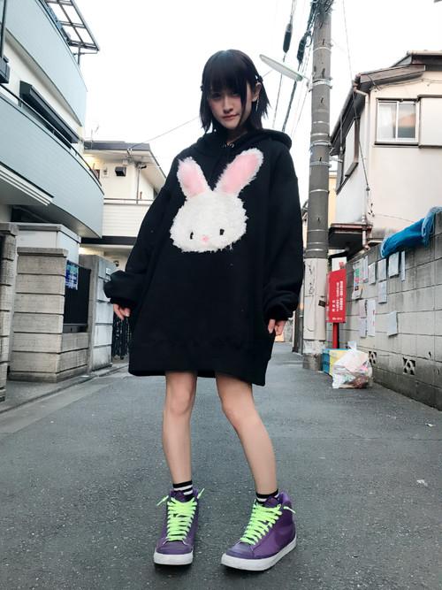 ぬいぐるみうさちゃんBIGパーカー/JUNGLE BUS