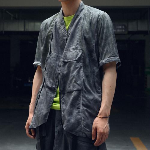 nosucism 20SS トランスフォームスタンドカラーシャツ