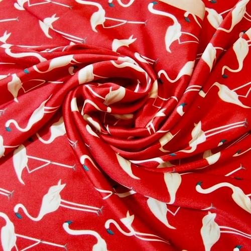 フラミンゴパレードスカーフ(ストロベリーレッド)