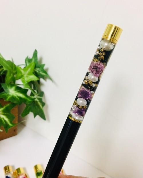 ハーバリウムボールペン【ブラック】