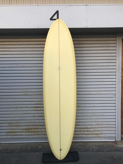 """【MITSVEN SURFBOARDS】ミツベンサーフボード サンディエゴエッグ 7'6"""" シャンパン  ミッドレングス"""