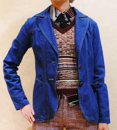 XS~Mサイズ【アメリカ製古着】1970年代ヴィンテージ◆インディゴデニム◆ジャケット