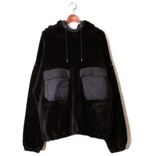 M-51 Sleeve Military Hoody -black <LSD-AI3T1>