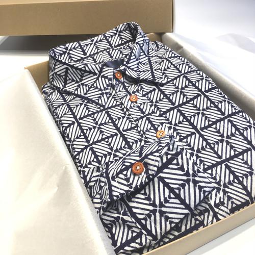 ヴィンテージ 浴衣 リメイク L/S シャツ 002