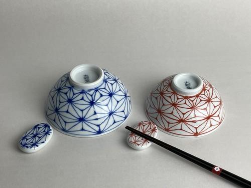 麻の葉 夫婦茶碗セット