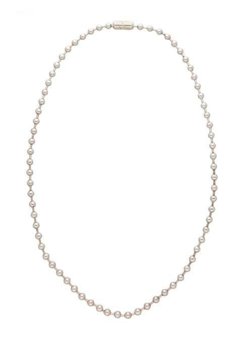 ball chain necklace. -L- long