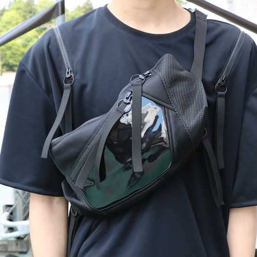 2 ZIP Waste Bag / BLACK