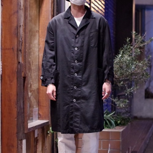 EURO Heavy Cotton Twill Work Coat with Over Dyed / 後染め ショップコート