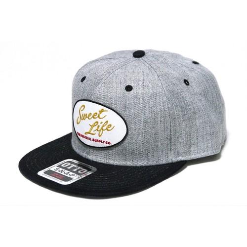 """再入荷!!DUCKTAIL CLOTHING SNAPBACK CAP """"SWEET LIFE""""HEATHER GRAY×BLACK ダックテイル クロージング スナップバックキャップ"""