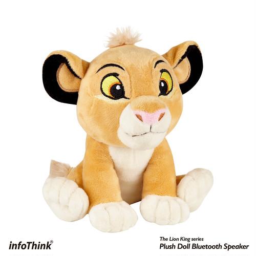 InfoThink Bluetoothスピーカー Disney ライオン・キング ぬいぐるみスピーカー シンバ BSP600(Simba)