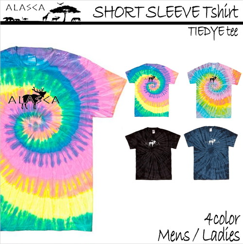 SHORT SLEEVE Tiedye Tshirt moose as-08