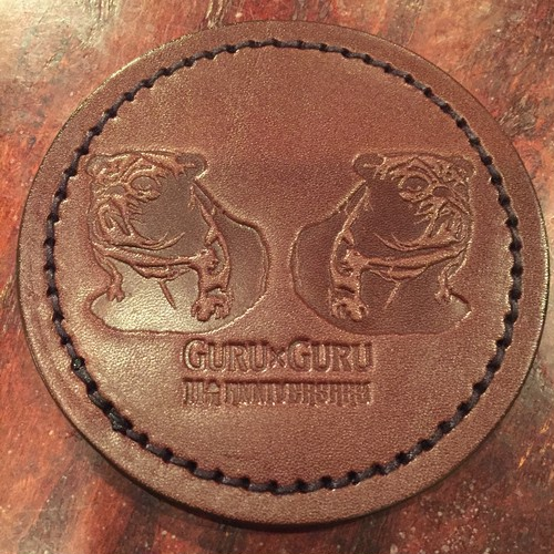 GURUxGURU レザーコースター BR
