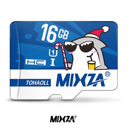 mixza microSDHCカード 16GB シャークサンタ Class10 UHS-I U1 80MB/s