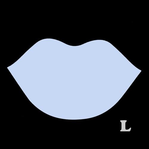 くちびる型(L)★ライトブルー