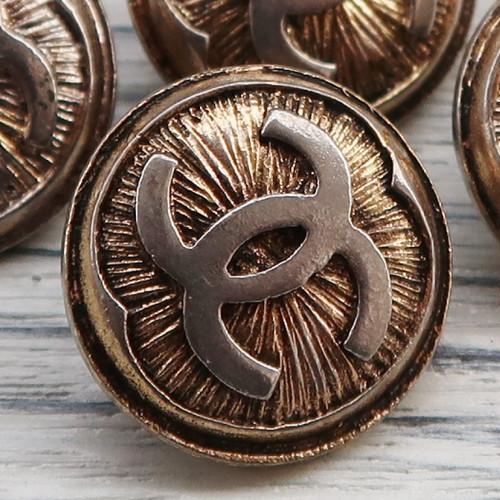 710 CHANEL(ヴィンテージ シャネル) COCOマーク ボタン ゴールド