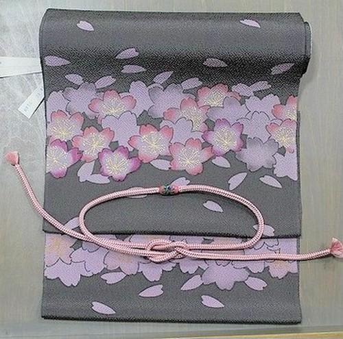 桜さくらサクラ 染め名古屋帯 お仕立て付き