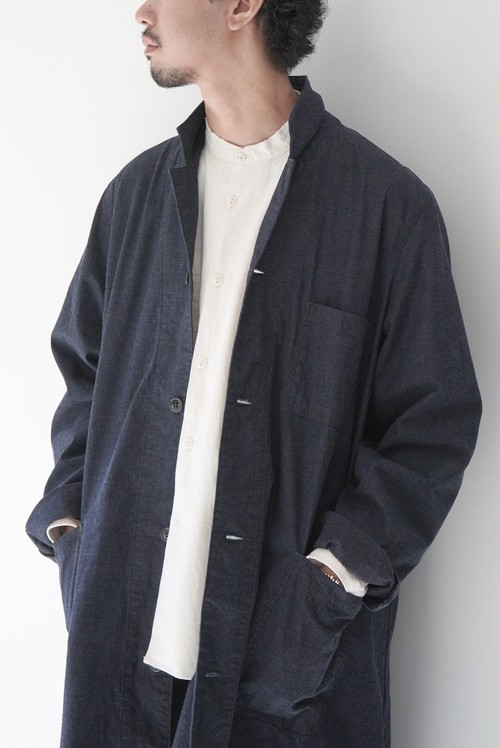 【ORDINARY FITS】DOCTOR COAT onewash/OF-T017OW