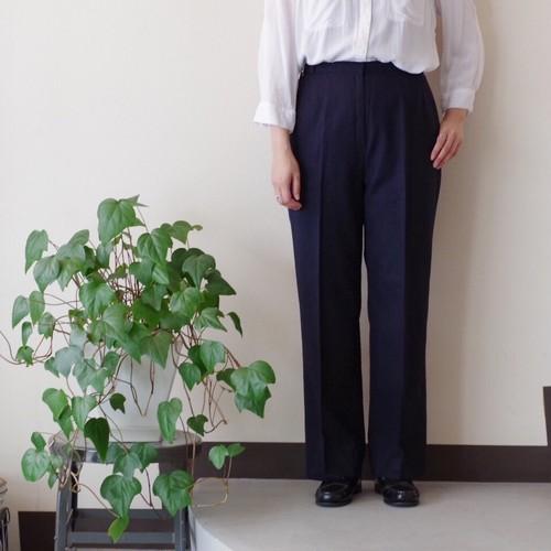 ウールパンツ / スラックス タイプ / ネイビー