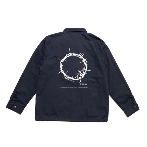 ILL IT - CIRCLE COACH JACKET (NAVY) -