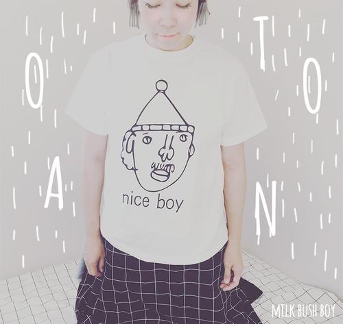 OTONA Tシャツ nice boy ホワイト