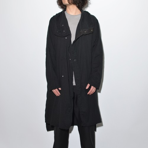 All Matching Hoodie Coat - Double Gauze 〈Black〉