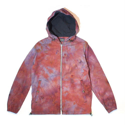 UNEVEN DYEING ZIP PARKA (FIRE RED) / LOST CONTROL