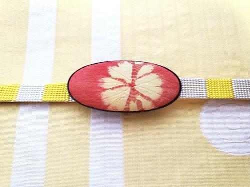 帯留め 絞り (古布)
