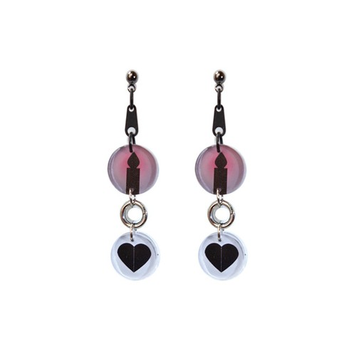 C.E Candle Heart Pierced Earring