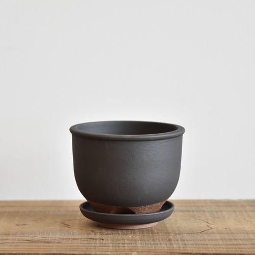 伝市鉢3.5寸コウロ型/受け皿付き【取り置き専用】