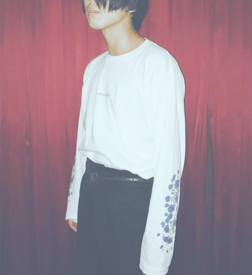 MERZ-0083 Blue rose Long sleeve T-shirt