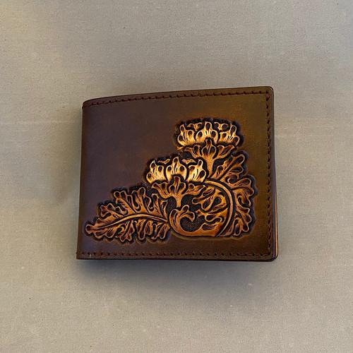 二つ折り財布(焦げ茶)No.02007-02