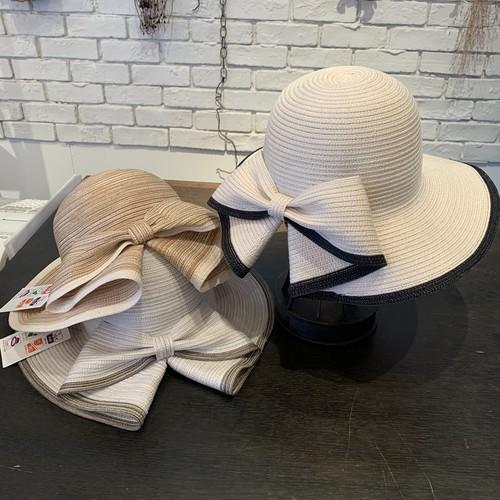 「RIVER HAT」バックリボンつば広ハット
