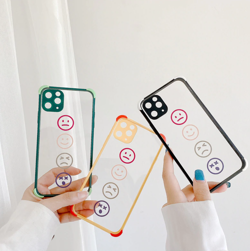 Solid color smile iphone case