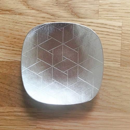 角豆皿ー亀甲網代