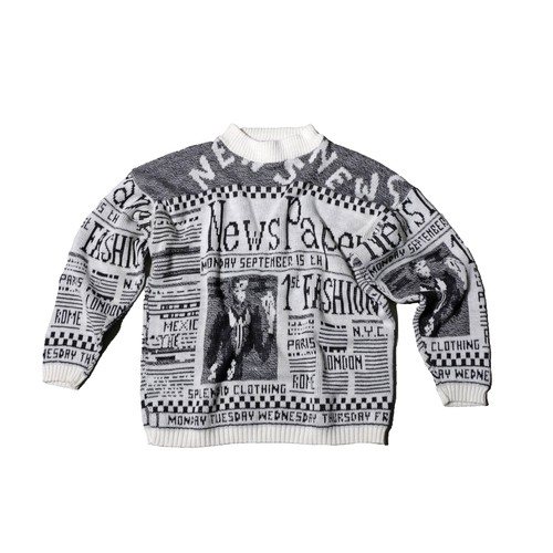 NewsPaper 80s KnitTops