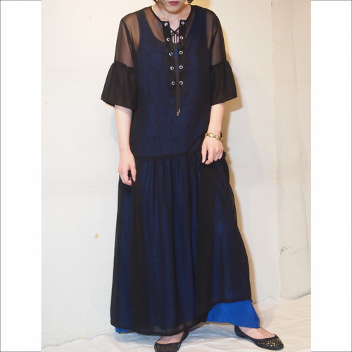 【hippiness】see-through one-piece/【ヒッピネス】シースルー ワンピース