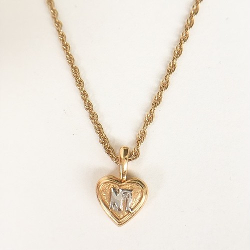 """NINA RICCI"" heart necklace[n-190]"