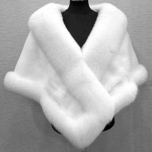 模造 ミンク キツネ 襟 ショール 毛皮 外套 ファーコート