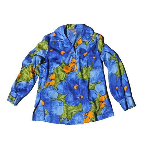 Pykettes 70s PsychedelicFlowerOpenShirts
