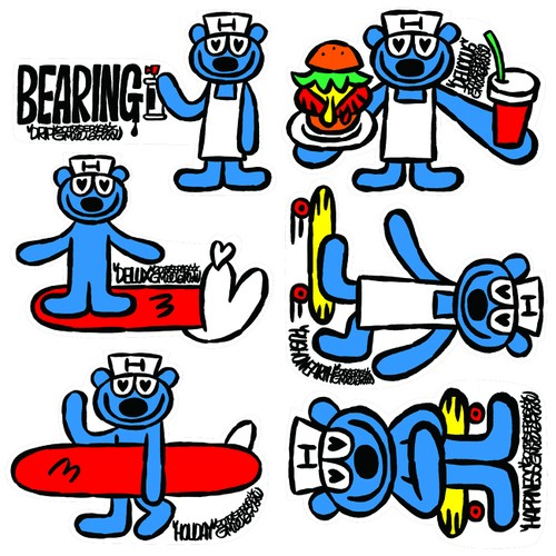 ミーイシイ ステッカー「Bearing(ベアリング)」